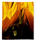 Fiery Sunflowers Fleece Blanket