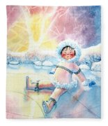 Figure Skater 10 Fleece Blanket