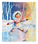 Figure Skater 11 Fleece Blanket