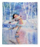 Figure Skater 14 Fleece Blanket