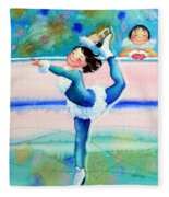 Figure Skater 19 Fleece Blanket