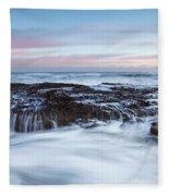 Filey Brigg Waves Fleece Blanket