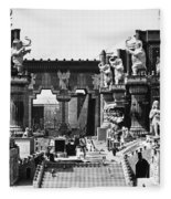 Film Set: Intolerance, 1916 Fleece Blanket