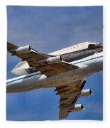 Final Flight Endeavour Fleece Blanket