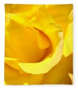 Fine Art Prints Yellow Rose Flower Fleece Blanket
