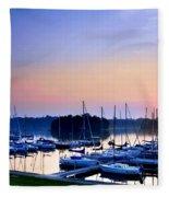 Fine Sailing Morning Coming Up Fleece Blanket