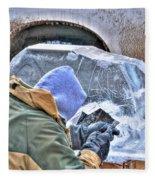 Fine Tuning Buffalo At Winter Fest Fleece Blanket