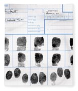 Fingerprint Identification Application Fleece Blanket