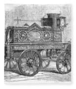 Fire Engine, 1862 Fleece Blanket