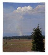 Fire In The Cascades Fleece Blanket