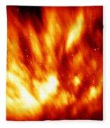 Fire In The Starry Sky Fleece Blanket