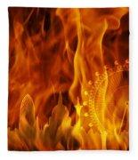 fire London skyline Fleece Blanket