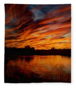 Fire Sky II  Fleece Blanket
