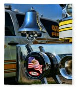 Fire Truck Bell Fleece Blanket
