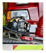 Fireman - Helmet Fleece Blanket