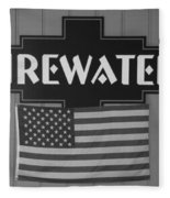 Firewater In Black And White Fleece Blanket