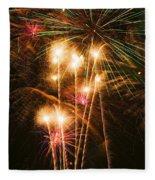 Fireworks In Night Sky Fleece Blanket
