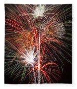 Fireworks Light Up The Night Fleece Blanket