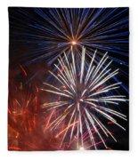 Fireworks Rectangle Fleece Blanket