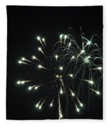 Fireworks With Moon II Fm2p Fleece Blanket