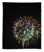 Fireworks With Moon IIi Fm3p Fleece Blanket