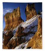 First Snow At Bryce Canyon Fleece Blanket