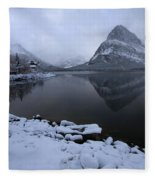 First Snow At Grinnell Fleece Blanket
