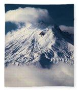 First Snow At Mt St Helens Fleece Blanket