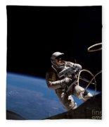 First U.s. Spacewalk Fleece Blanket