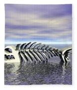 Fish Bones Fleece Blanket