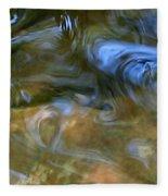 Fish In Rippling Water Fleece Blanket