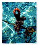 Fish Knot Santorini Greece Fleece Blanket