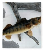 Fish Mount Set 02 Bb Fleece Blanket