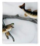 Fish Mount Set 03 A Fleece Blanket