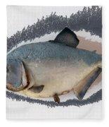 Fish Mount Set 04 C Fleece Blanket