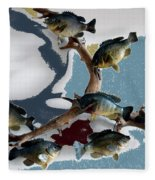 Fish Mount Set 05 B Fleece Blanket