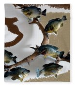 Fish Mount Set 05 C Fleece Blanket