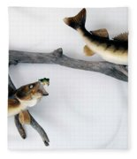 Fish Mount Set 06 A Fleece Blanket