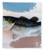 Fish Mount Set 07 B Fleece Blanket