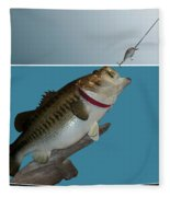 Fish Mount Set 13 D Fleece Blanket