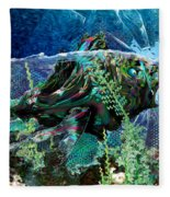 Fish Trouble Fleece Blanket