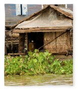 Fisherman Boat House Fleece Blanket