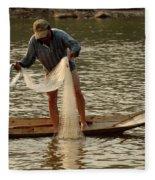 Fisherman Mekong 2 Fleece Blanket