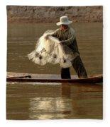 Fisherman Mekong 3 Fleece Blanket