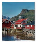 Fishermen's Houses Fleece Blanket