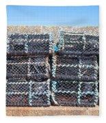 Fishing Baskets Fleece Blanket