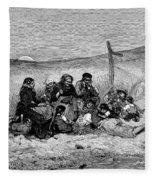 Fishing Boat, 1882 Fleece Blanket