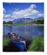 Fishing Boat On Upper Lake, Killarney Fleece Blanket