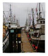 Fishing Boat Walkway Fleece Blanket