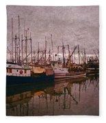 Fishing Boats Of Steveston-ca Fleece Blanket